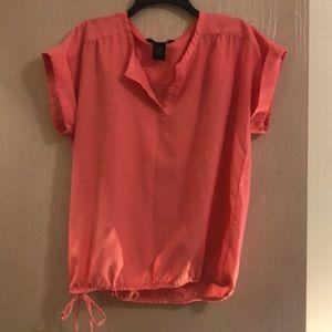 Coral Calvin Klein blouse